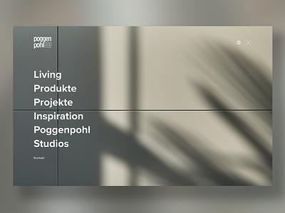 Poggenpohl Website Relaunch ux ui tradition responsive-design luxury kitchen website menu website clean