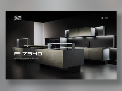 Poggenpohl Website Relaunch porsche website ux ui tradition responsive-design luxury kitchen clean