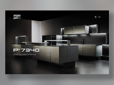 Poggenpohl Website Relaunch porsche website ux ui tradition responsive-design luxury kitchen clean