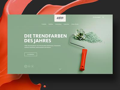 Wall Colour Website website web-design wall ux ui teaser slideshow slider responsive design homepage design colour