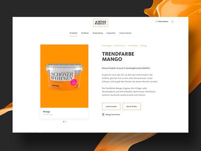 Product Detail Page website web-design wall colour ux ui products detail page products page responsive design design colour
