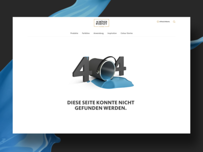 404 Page blue responsive design wall colour 404 web design website ux ui design colour