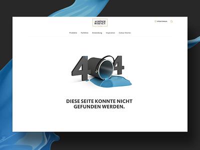 404 Page blue responsive design wall colour 404 web design website ux ui design colour