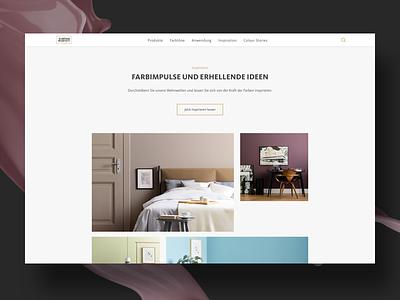 Homepage Detail sticky navigation wall colour teaser detail homepage website responsive design ux ui color colour