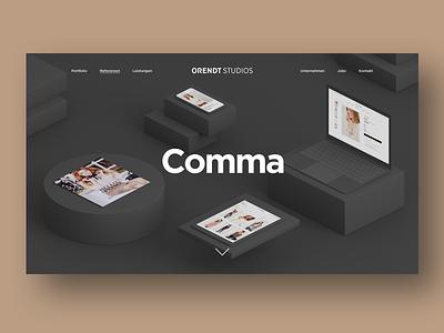 Orendt Studios Case Study 3d illustration web teaser responsive design minimal design flat clean website ui