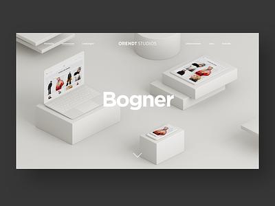 Orendt Studios Case Study 3d ux illustration web teaser white responsive design minimal design clean website ui