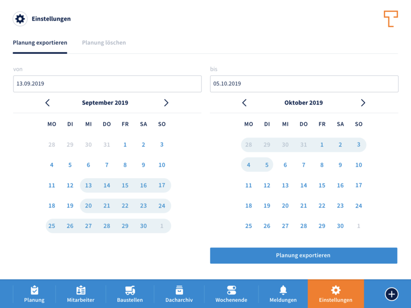 Dashboard: Calendar responsive design calendar design calendar icon design icons app design web application development web application design app orange blue white minimal flat design ux ui