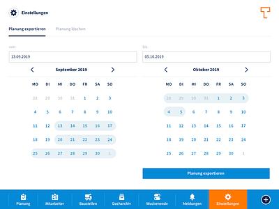 Dashboard: Calendar responsive design calendar design calendar icon design icons app design web application development web application design app orange blue white minimal flat design ux ui