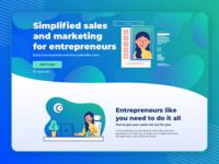 Marketing for Entrepreneurs vector ux process infographic design web ui icon branding illustration