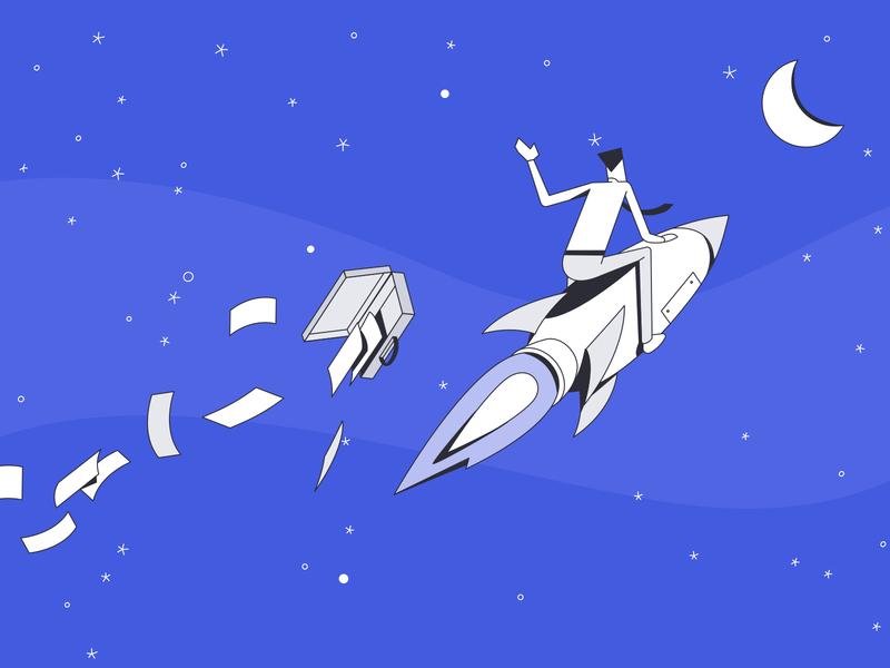 Rocket Man pdfelement ux design ui branding illustration