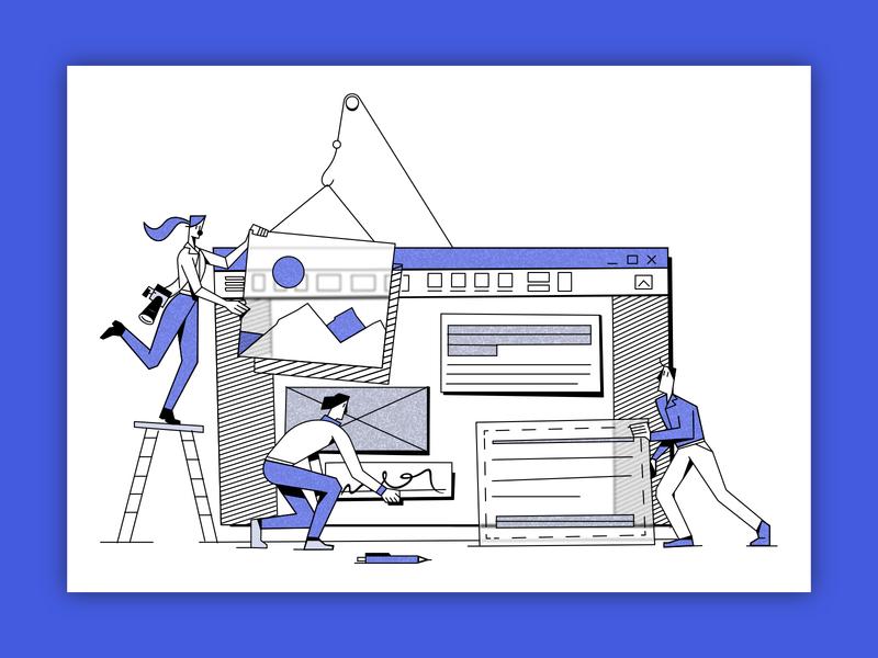 Team Work uxillustration pdfelement ui branding illustration