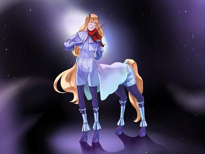Centaur musician 🦄 men horse centaur characterdesign character art artwork 2d musician pony draw 2d art design illustration