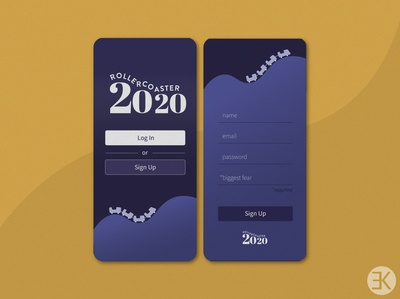 DailyUI 001 login signup dailyui 001 dailyui