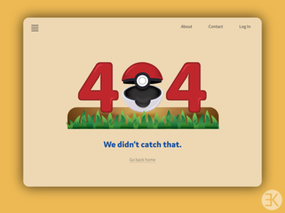 DailyUI 008 error error message error page 404 error page 404 error 404 404 page pokemon dailyui008 008 adobe vector ui yellow ux illustration design dailyuichallenge illustrator dailyui