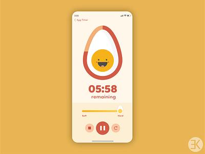 Daily UI 014 daily ui 014 014 egg timer egg application timer app timer ux vector ui dailyuichallenge adobe illustrator design dailyui