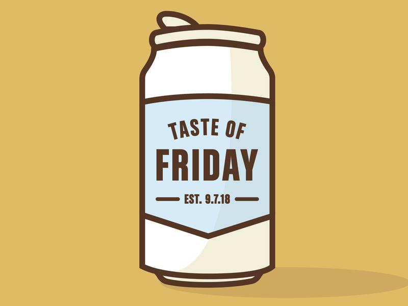 Friday illustration beer branding beer design beer bottle beer can
