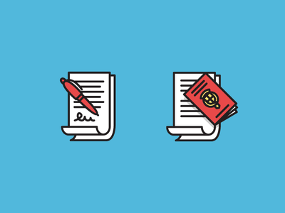 Get those documents in order flat documents icon vector illustration