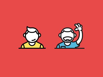 Helpful people icon people vector flat illustration