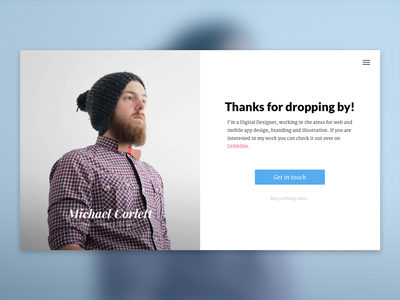 New Site! hipster homepage simple flat design web