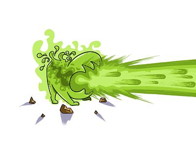 Horror radiation character cartoon beam illustration rad throne nuclear horror