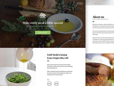 Olive 2 Oil Landing page web design landing page olive 2 oil product food