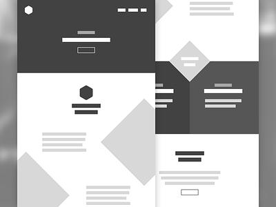 New project wireframes ideas desktop mobile responsive design website wireframes