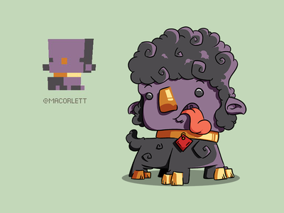 Purple pet sheep character gift sheep illustration