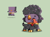 Purple pet sheep