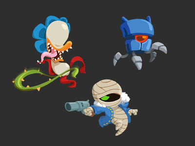 More of the Gang nuclear throne b skin mutants study character wip game rebel plant robot