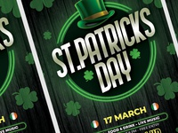 St. Patricks Day Flyer party poster poster design template st patrick march irish party flyer artwork advertising poster party flyer template design flyer design party event green irish day irish st patricks st patricks day event flyer flyer template