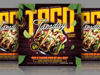 Taco Tuesday Flyer instagram template menu template mixtape event flyer flyer restaurant advertising taco tuesday menu flyer food menu template design flyer design flyer template
