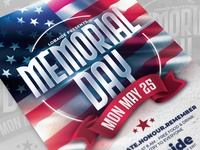 Memorial Day Flyer Template templates mock up template honor lobaide america usa memorial day flyer flag day design template advertising party flyer poster memorial day flyer flyer design template design event flyer flyer template