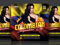 Colombian Independence Day Party Flyer nightclub night club advertising party flyer sexy colombia colombian illustration event flyer party event independence day colombian template design event flyer flyer template