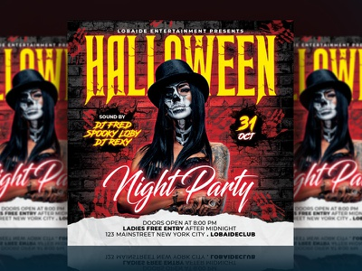 Haloween Flyer poster poster design trick or treat grunge red templates mockup psd halloween night club template flyer design party flyer halloween design halloween bash halloween flyer halloween party event flyer advertising template design flyer template