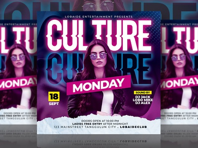 Night Club Flyer night club promotion night club flyer print design print tempate event party event square design mixtape party event mock up design tempate design party flyer design night club graphic design event flyer advertising template design flyer design flyer template