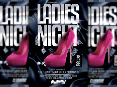 Ladies Night Flyer Template template template design ladies night party event party flyer event flyer black event poster print design print flyer template flyer design flyer advertising design