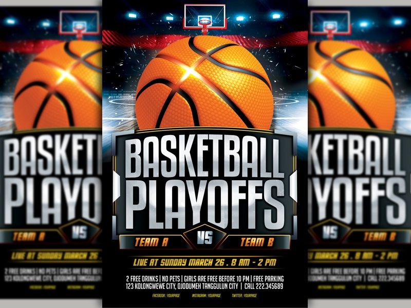 Basketball Flyer Example | Basketball Flyer By Lobaide Studio Dribbble Dribbble