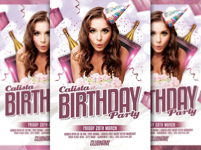 birthday flyer template by lobaide studio dribbble dribbble