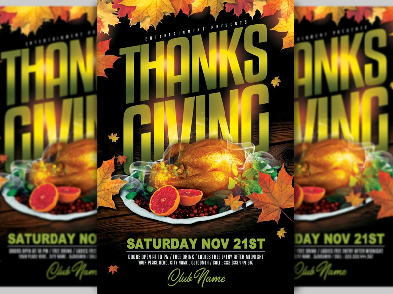 Thanksgiving Flyer By Lobaide On Dribbble