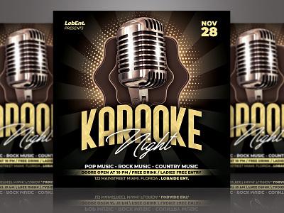 KaraokeFlyer Template karaoke night karaoke karaoke flyer flyer black and gold event flyer party event party flyer event advertising template design flyer design flyer template