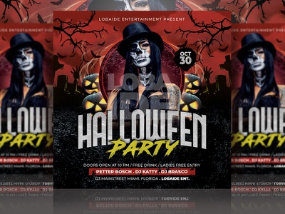 Halloween Flyer Template square socialmedia instagram mock up template scary color block red halloween bash template design party flyer party event halloween party halloween design halloween flyer advertising flyer event flyer flyer design flyer template