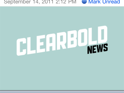 Clearbold News HTML Email