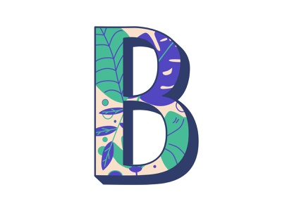 B pattern illustration hand lettering 36daysoftype