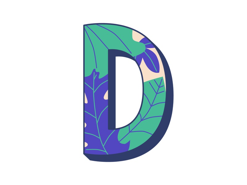 D 36daysoftype floral pattern illustration hand lettering typography