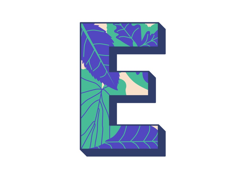 E 36daysoftype floral illustration hand lettering typography