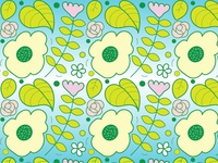 Flower and Leaf Pattern