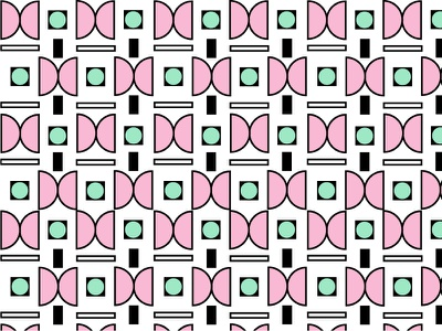 Pattern 1 green pink geometric pattern