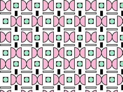 Pattern 1 green pink geometric pattern