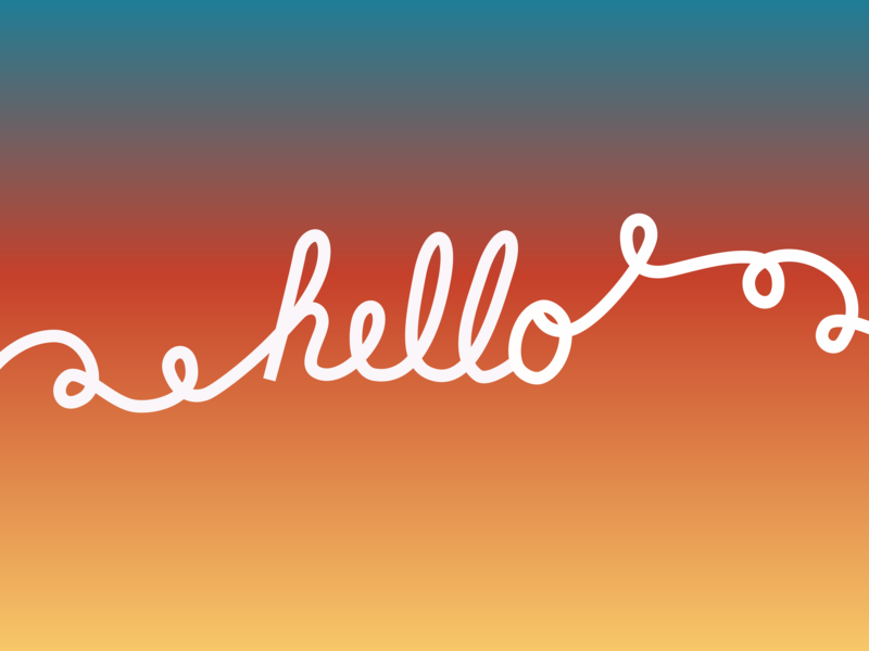 Hello typography hand lettering handlettering