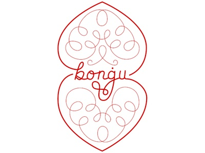 Bongu typography flourishes handlettering hand lettering